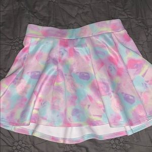 jojo siwa tie dye pleated skater skirt